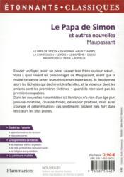 Le Papa de Simon et autres nouvelles - 4ème de couverture - Format classique
