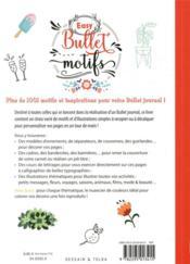 Easy bullet motifs ; 1001 idées de dessins, d'ornements, de nuanciers ultrafaciles pour mon carnet - 4ème de couverture - Format classique