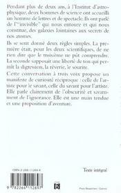 Conversations Sur L'Invisible - 4ème de couverture - Format classique