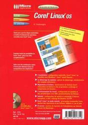 Guidexpress Corel Linux - 4ème de couverture - Format classique