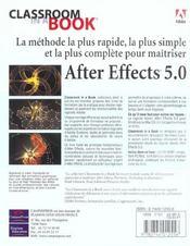Adobe. After Effects 5.0 - 4ème de couverture - Format classique
