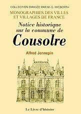 Notice historique sur la commune de cousolre - Couverture - Format classique