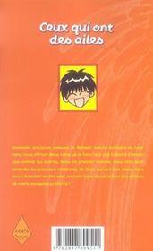 Ceux qui ont des ailes t.1 - 4ème de couverture - Format classique