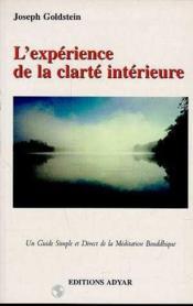 Experience De La Clarte Interieure - Couverture - Format classique