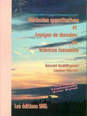 Methodes quantitatives analyse de donnees - Couverture - Format classique