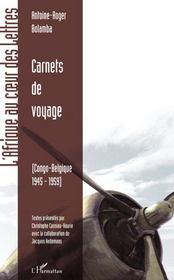 Carnets de voyage ; Congo-Belgique (1945-1959) - Couverture - Format classique