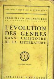 L'Evolution Des Genres Dans L'Histoire De La Litterature - Couverture - Format classique