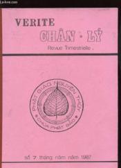 Verite Chan-Ly - Revue Trimestrielle - Couverture - Format classique