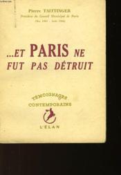 Et Paris Ne Fut Pas Detruit - Couverture - Format classique