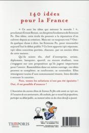 140 idées pour la France - 4ème de couverture - Format classique