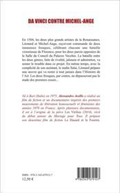 Da Vince contre Michel-Ange - 4ème de couverture - Format classique