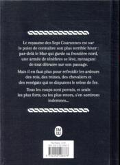 Le trône de fer ; INTEGRALE VOL.1 - 4ème de couverture - Format classique