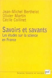 Savoirs et savants : les études sur la science en France - Intérieur - Format classique