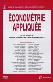 Econometrie Appliquee - Couverture - Format classique