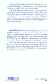 Developpement Humain - 4ème de couverture - Format classique