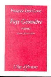 Pays Geometre - Couverture - Format classique