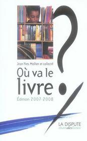 Où va le livre ? (édition 2007-2008) - Intérieur - Format classique