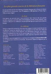 Coffret Les Plus Grandes Oeuvres De La Litterature Francaise - 4ème de couverture - Format classique