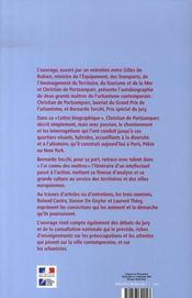 Christian de portzamparc, grand prix de l'urbanisme t.4 - 4ème de couverture - Format classique