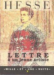 Lettre a un jeune artiste - Intérieur - Format classique