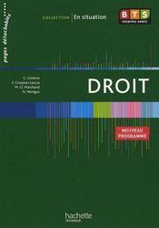 Droit ; BTS 1ère année ; livre de l'élève - Couverture - Format classique