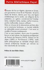 La trilogie de Tartarin : Tartarin de Tarascon ; Tartarin sur les Alpes ; Port-Tarascon - 4ème de couverture - Format classique
