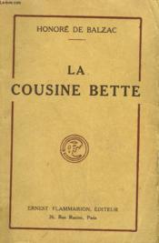 La Cousine Bette. - Couverture - Format classique