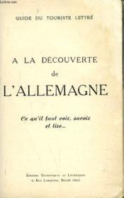Guide Du Touriste Lettre. A La Decouverte De L'Allemagne. - Couverture - Format classique