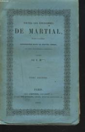 Toutes Les Epigrammes De Martial En Latin Et En Francais - Couverture - Format classique