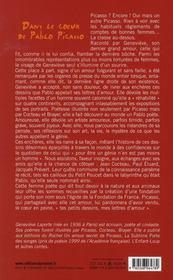 Dans le coeur de Pablo Picasso - 4ème de couverture - Format classique
