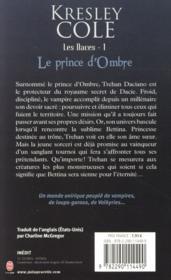 Les daces t.1 ; le prince d'ombre - 4ème de couverture - Format classique