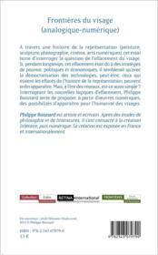 Frontières du visage ; analogique numérique - 4ème de couverture - Format classique