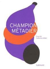 Champion métadier - Couverture - Format classique