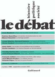 Revue Le Débat N.116 ; Septembre-Octobre 2001 - Intérieur - Format classique
