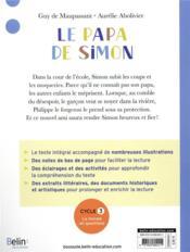 Le papa de Simon - 4ème de couverture - Format classique