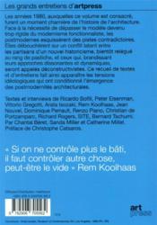 Architecture t.1 ; postmodernités - 4ème de couverture - Format classique