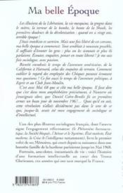 Mémoires t.1 ; ma belle époque - Couverture - Format classique