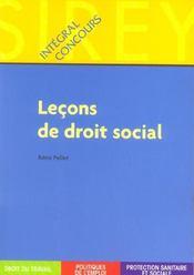 Lecons De Droit Social - Intérieur - Format classique