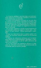 Le Consultant Et Le Changement Dans La Fonction Publique - 4ème de couverture - Format classique