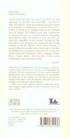 Cap-vert , notes atlantiques - 4ème de couverture - Format classique