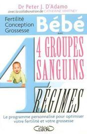 Fertilite, Conception, Grossesse Et Bebe Avec 4 Groupes Sanguins, 4 Regimes - Intérieur - Format classique