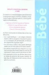Fertilite, Conception, Grossesse Et Bebe Avec 4 Groupes Sanguins, 4 Regimes - 4ème de couverture - Format classique