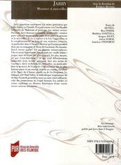 REVUE LA LICORNE T.80 ; jarry ; monstres et merveilles - 4ème de couverture - Format classique