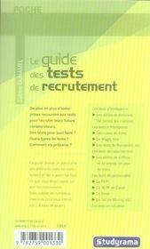 Le guide des tests de recrutement (2e édition) - 4ème de couverture - Format classique