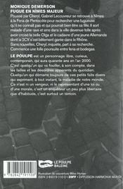 Fugue En Nimes Majeur - 4ème de couverture - Format classique
