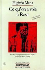 Ce qu'on a volé à Rosa - Couverture - Format classique