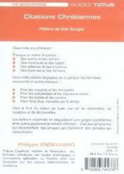 Citations chrétiennes - 4ème de couverture - Format classique