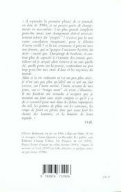 Temps Mort, Journal Imprecis (1986-1998) - 4ème de couverture - Format classique