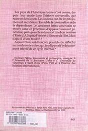 Amerique Latine Crise Et - 4ème de couverture - Format classique