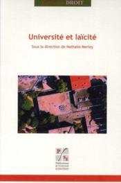 Université et laïcité - Couverture - Format classique